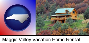 a mountainside vacation home in Maggie Valley, NC