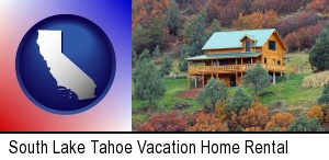 a mountainside vacation home in South Lake Tahoe, CA