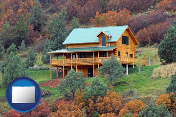 a mountainside vacation home - with Colorado icon
