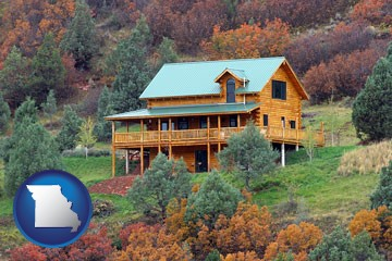 a mountainside vacation home - with Missouri icon