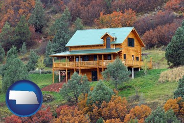 a mountainside vacation home - with Nebraska icon