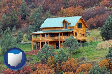 a mountainside vacation home - with Ohio icon