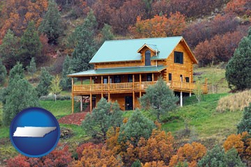 a mountainside vacation home - with Tennessee icon