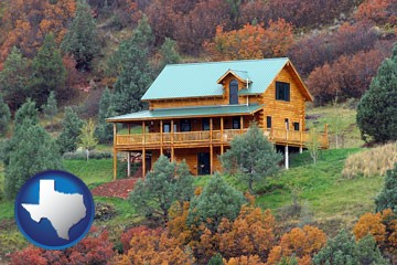 a mountainside vacation home - with Texas icon