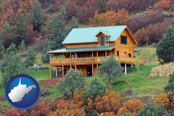 a mountainside vacation home - with West Virginia icon